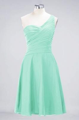 Sexy A-line Flowy One-Shoulder Sweetheart Sleeveless Short length Bridesmaid Dress UK UK with Ruffles_34