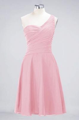 Sexy A-line Flowy One-Shoulder Sweetheart Sleeveless Short length Bridesmaid Dress UK UK with Ruffles_4