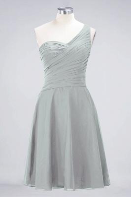 Sexy A-line Flowy One-Shoulder Sweetheart Sleeveless Short length Bridesmaid Dress UK UK with Ruffles_29