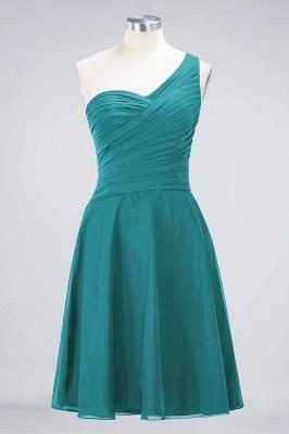 Sexy A-line Flowy One-Shoulder Sweetheart Sleeveless Short length Bridesmaid Dress UK UK with Ruffles_31