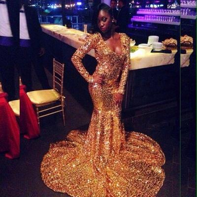 Elegant Long Sleeves Elegant Mermaid Scoop Floor length Prom Dress UKes UK UK_3