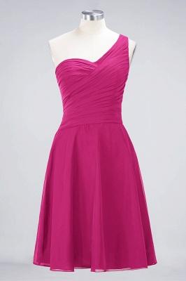 Sexy A-line Flowy One-Shoulder Sweetheart Sleeveless Short length Bridesmaid Dress UK UK with Ruffles_9