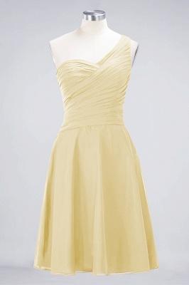 Sexy A-line Flowy One-Shoulder Sweetheart Sleeveless Short length Bridesmaid Dress UK UK with Ruffles_17