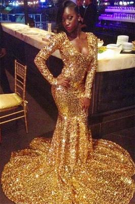 Elegant Long Sleeves Elegant Mermaid Scoop Floor length Prom Dress UKes UK UK_1