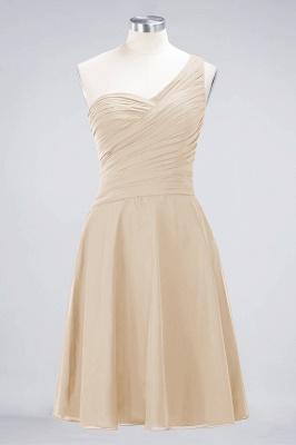 Sexy A-line Flowy One-Shoulder Sweetheart Sleeveless Short length Bridesmaid Dress UK UK with Ruffles_14
