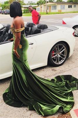 Chic Off-the-Shoulder Appliques Zipper Floor length Elegant Mermaid Prom Dress UKes UK UK_4