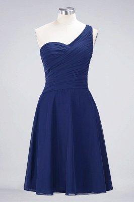 Sexy A-line Flowy One-Shoulder Sweetheart Sleeveless Short length Bridesmaid Dress UK UK with Ruffles_25
