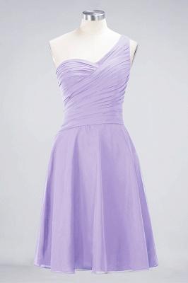 Sexy A-line Flowy One-Shoulder Sweetheart Sleeveless Short length Bridesmaid Dress UK UK with Ruffles_20