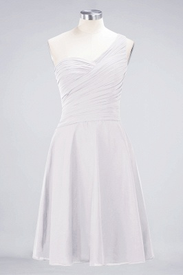 Sexy A-line Flowy One-Shoulder Sweetheart Sleeveless Short length Bridesmaid Dress UK UK with Ruffles_1