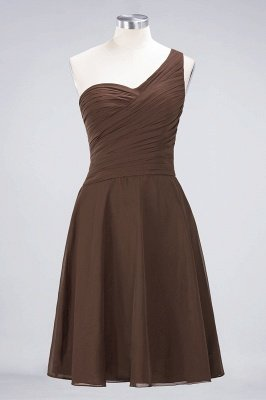 Sexy A-line Flowy One-Shoulder Sweetheart Sleeveless Short length Bridesmaid Dress UK UK with Ruffles_12