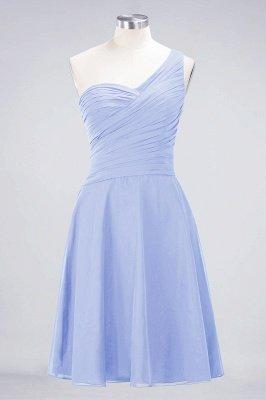 Sexy A-line Flowy One-Shoulder Sweetheart Sleeveless Short length Bridesmaid Dress UK UK with Ruffles_21