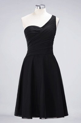 Sexy A-line Flowy One-Shoulder Sweetheart Sleeveless Short length Bridesmaid Dress UK UK with Ruffles_28