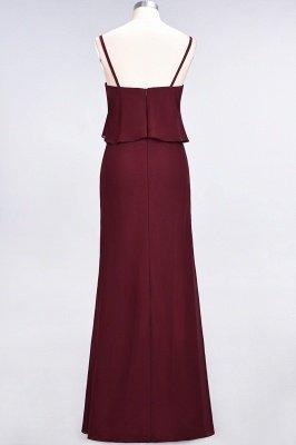 A-Line Chiffon Spaghetti-Straps V-Neck Sleeveless Long Bridesmaid Dress UK_3