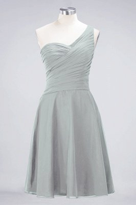 Sexy A-line Flowy One-Shoulder Sweetheart Sleeveless Short length Bridesmaid Dress UK UK with Ruffles_29