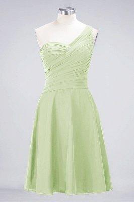 Sexy A-line Flowy One-Shoulder Sweetheart Sleeveless Short length Bridesmaid Dress UK UK with Ruffles_33