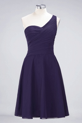 Sexy A-line Flowy One-Shoulder Sweetheart Sleeveless Short length Bridesmaid Dress UK UK with Ruffles_18