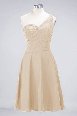 Sexy A-line Flowy One-Shoulder Sweetheart Sleeveless Short length Bridesmaid Dress UK UK with Ruffles_14