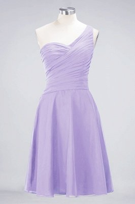 Sexy A-line Flowy One-Shoulder Sweetheart Sleeveless Short length Bridesmaid Dress UK UK with Ruffles_20
