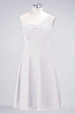 Sexy A-line Flowy One-Shoulder Sweetheart Sleeveless Short length Bridesmaid Dress UK UK with Ruffles_1