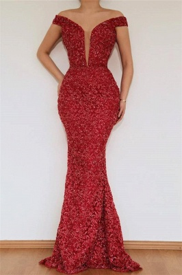 Burgundy Maroon Amazing Elegant Mermaid Off The Shoulder Lace Appliques Prom Dress UK With Detachable Skirt_2