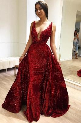 Burgundy Maroon A-Line Sleeveless Sequin Sexy Affordable Evening Dress UKes UK UK_1