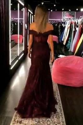 Elegant Trumpt Off-the-Shoulder StraplessLong Prom Dress UK_2