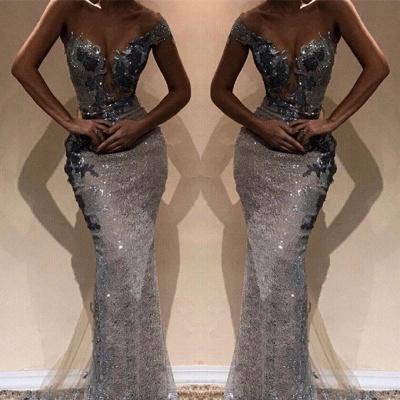 Amazing Column One-Shoulder Silver Sequin Prom Dress UKes UK UK_2