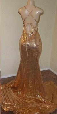Sequins Sleeveless Front Slit Floor Length Elegant Trumpt Dress UKes UK_5