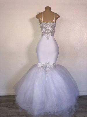 Elegant Mermaid Strapless Tulle Applique Timeless Prom Dress UKes UK UK_2