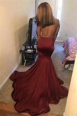 Wine Red Maroon Long Sleeves Open Back Elegant Trumpt Prom Dress UKes UK UK | Sexy See-Through Lace Appliques Evening Dress UKes UK_1