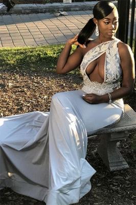 Trendy Chic Elegant Column One Shoulder Applique Prom Dress UKes UK UK_1