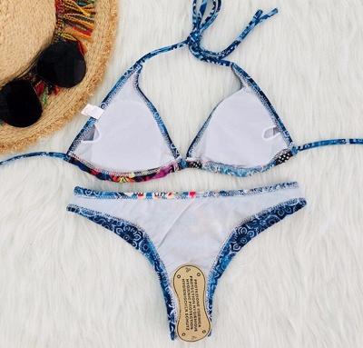Women Strappy  Floral Print Padding Wireless Sexy Bikini Set Swimwear Swimsuits_3