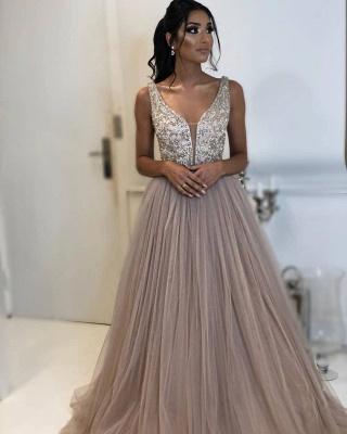 Sexy A-line Sleeveless Applique Tulle Affordable Evening Dress UKes UK UK_2