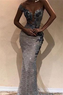 Amazing Column One-Shoulder Silver Sequin Prom Dress UKes UK UK_1