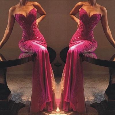 Elegant Column Sweetheart Lace Appliques Sexy Prom Dress UKes UK UK_2