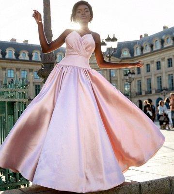 Sexy Simple Sweet Pink Spaghetti-Straps Prom Dress UKes UK UK | Sleeveless A-Line Ruffles Sexy Evening Dress UKes UK_2