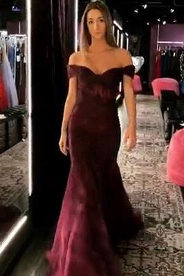 Elegant Trumpt Off-the-Shoulder StraplessLong Prom Dress UK_1