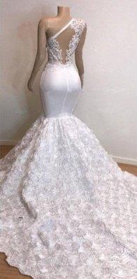 One Shoulder Lace Appliques Meramid Prom Dress UKes UK UK with sleeve_4