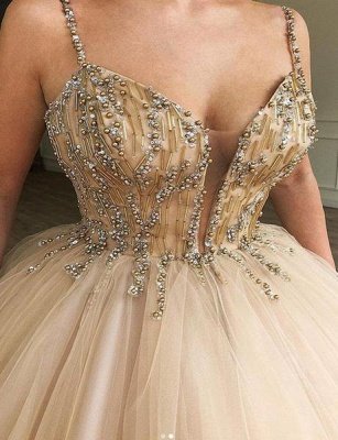 Amazing Ball Gown Spaghetti Straps Beads Prom Dress UKes UK UK_2