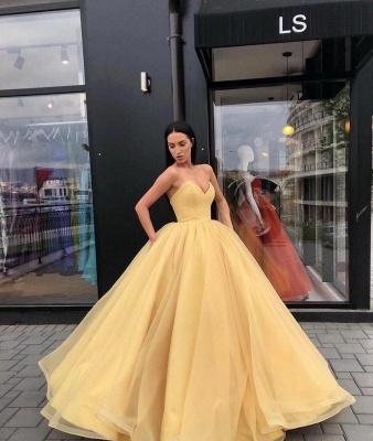 Sexy Ball Gown Strapless Strapless Floor-Length Prom Dress UK_2