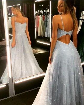 Sparkly Backless Dress UK Tulle Floor Length Prom Dress UKes UK UK | Sexy Long Evening Dress UKes UK on Sale_1