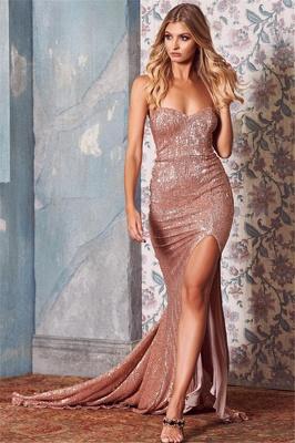 Elegant Sequins Side-Slit Long Prom Dress UKes UK UK | StraplessElegant Trumpt Evening Dress UKes UK_1
