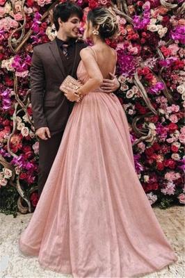 Sexy Spaghetti Strap Beads Open Back Prom Dress UKes UK Sleeveless Tulle Elegant Evening Dress UKes UK with Sash_2