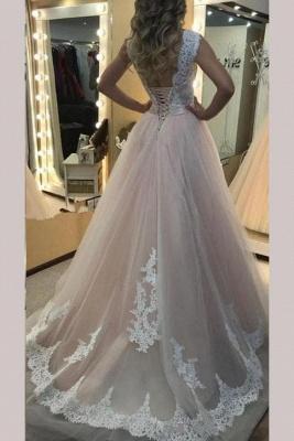 Sexy Sheer Jewel Lace Appliques Prom Dress UKes UK Sleeveless Evening Dress UKes UK with Ribbon_2