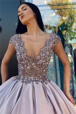 Alluring V-Neck without Sleeve Crystal Beading Ball-Gown Prom Dress UK UKes UK_4
