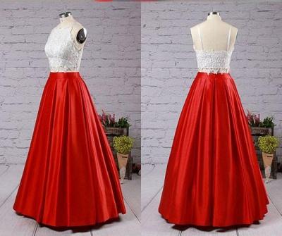 Lace Appliques Prom Dress UKes UK Side slit Mermaid Sleeveless Evening Dress UKes UK_3