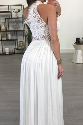 Lace Halter Sleeveless Ruffles Prom Dress UKes UK Popular Sexy Elegant Evening Dress UKes UK_3