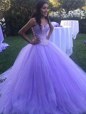 Sexy Crystal Sweetheart Applique Prom Dress UKes UK Ball Gown Sleeveless Elegant Evening Dress UKes UK_2