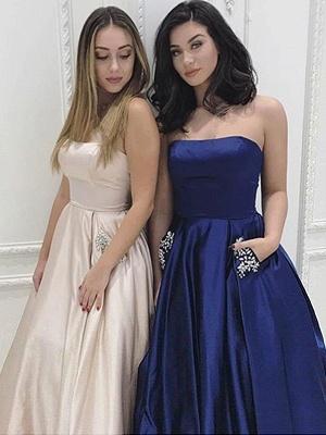 Strapless Beads Ruffles Prom Dress UKes UK Sleeveless Elegant Evening Dress UKes UK with Pocket_5