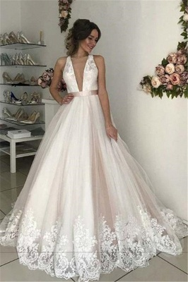 Lace Appliques Bowknot Halter Prom Dress UKes UK Backless Sleeveless Evening Dress UKes UK_1